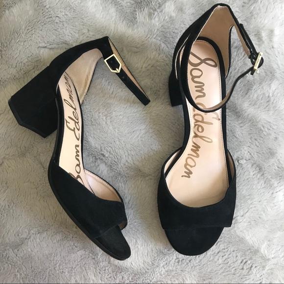 82d6c34501b NEW Sam Edelman Susie black suede d Orsay sandals.  M 5b9d6324c2e9fe64d4e08b04